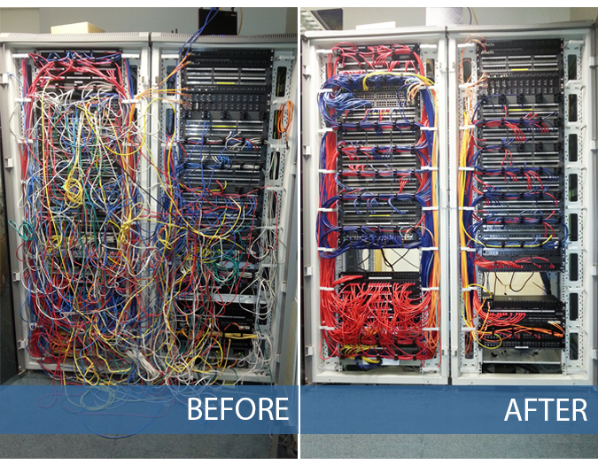 Before & After Comms / Communications Cabinet Refresh Norwich